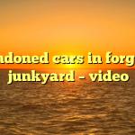 Abandoned cars in forgotten junkyard – video
