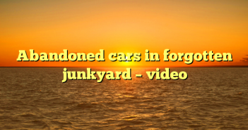 Abandoned cars in forgotten junkyard – video