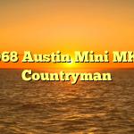1968 Austin Mini MK2 Countryman