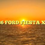 1986 FORD FIESTA XR2