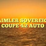 DAIMLER SOVEREIGN COUPE 4.2 AUTO