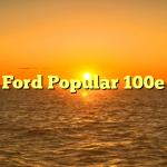 Ford Popular 100e