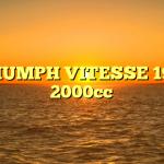 TRIUMPH VITESSE 1969 2000cc