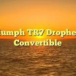 Triumph TR7 Drophead Convertible