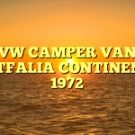 VW CAMPER VAN WESTFALIA CONTINENTAL 1972