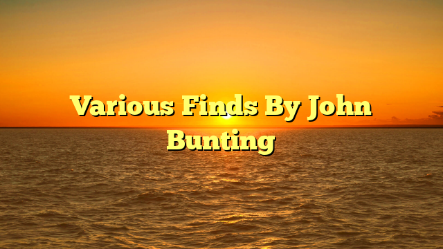 Various Finds By John Bunting